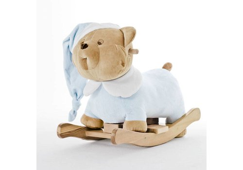 Nanan Puccio licht blauwe schommelstoel