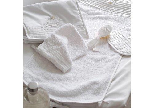 Tartine et Chocolat Monogramme aankleedkussenhoes wit