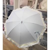 Blauwe parasol met kanten rand - Mico's Collection