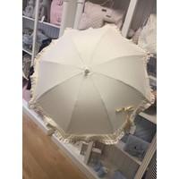 Beige parasol met kanten rand - Mico's Collection