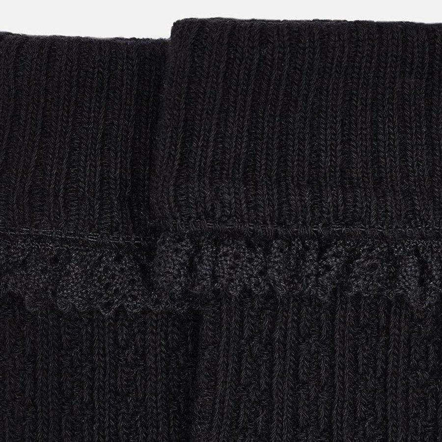 Zwarte gebreide kabel kniekousen - Mayoral
