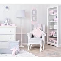 Roze kussen met witte satijnen rand (Big)
