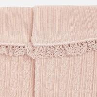 Roze gebreide kabel kniekousen - Mayoral