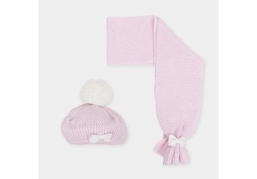 Roze set muts en shawl - Tutto Piccolo