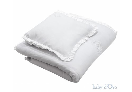 Licht grijs baby beddengoed - baby d'Oro