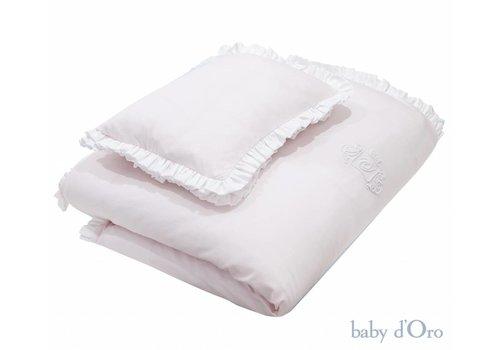 Poeder roze baby beddengoed