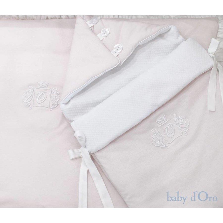 Poeder roze baby beddengoed - baby d'Oro