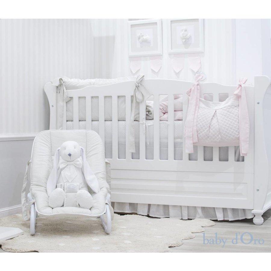 Wit gewatteerde speelgoed-/opbergzak - baby d'Oro