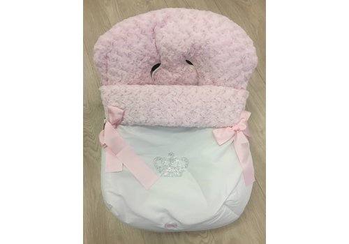 Maxi Cosi hoes roze met strass kroon