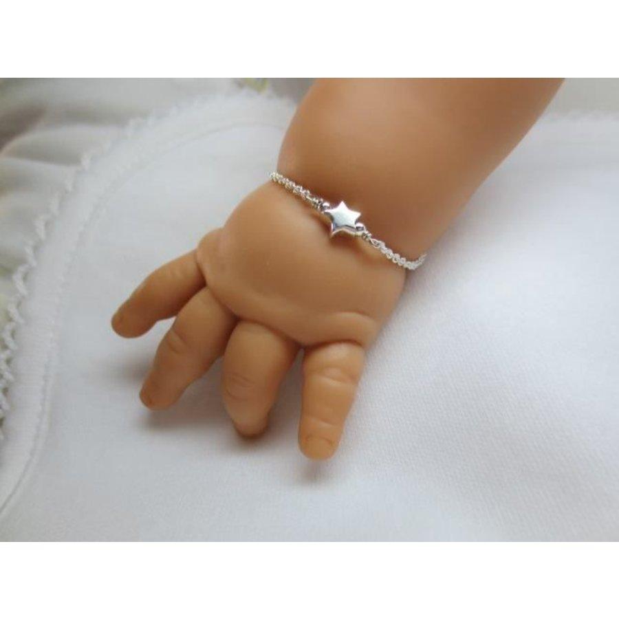 Zilveren armbandje Ster