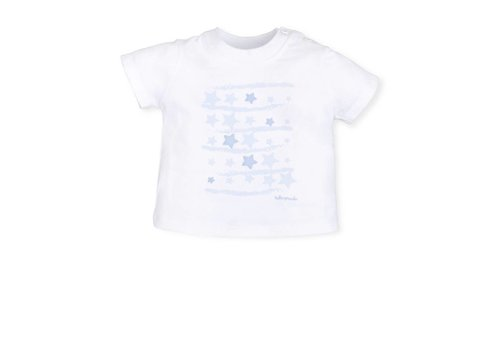 Wit t-shirt met sterren print - Tutto Piccolo