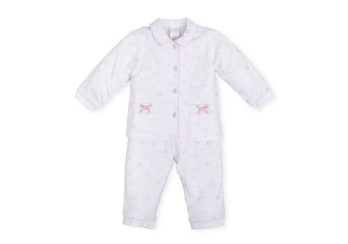 Roze pyjama met strikjes - Tutto Piccolo