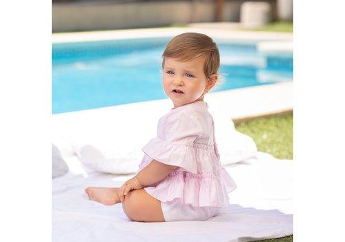 Roze geruite blouse - Tutto Piccolo