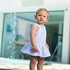 Tutto Piccolo: Babykleding & Kinderkleding Licht blauw / wit gestreepte jurk - Tutto Piccolo