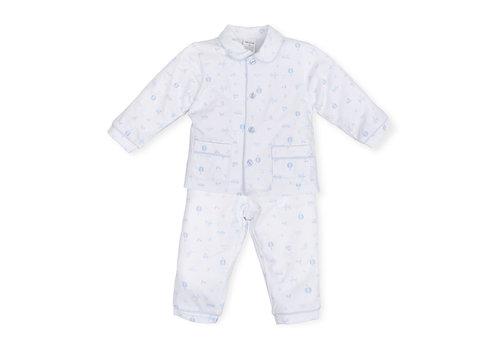 Blauwe pyjama met print - Tutto Piccolo
