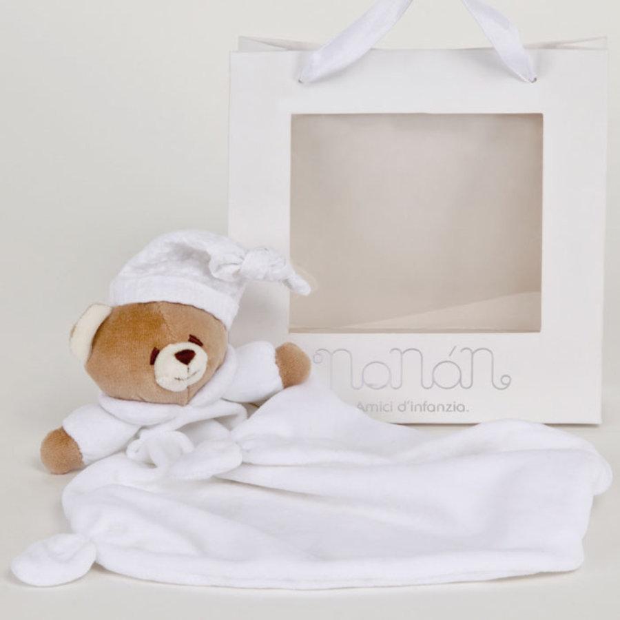 Tato witte beer knuffeldoek - Nanan