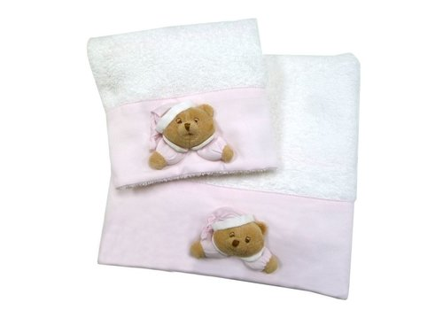 Puccio set roze handdoeken- Nanan