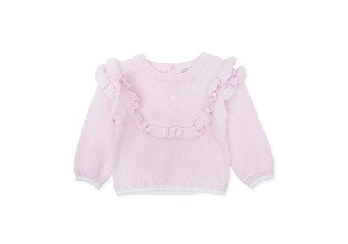 Roze shirt met ruches - Tutto Piccolo