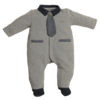 First (My First Collection): Exclusieve Babykleding & Accessoires Grijs/navy pakje met das - First (My First Collection)
