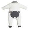 First (My First Collection): Exclusieve Babykleding & Accessoires Wit pakje met grijze teddy - First (My First Collection)