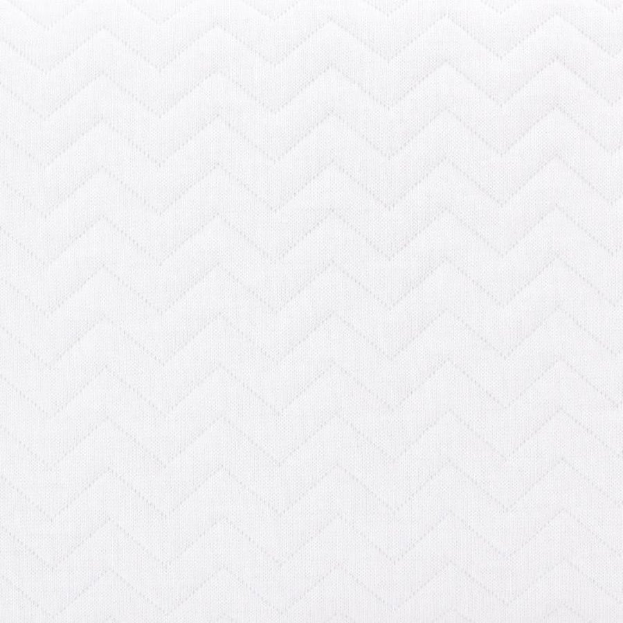 Aankleedkussenhoes wit (Chevron White) - Poetree Kids