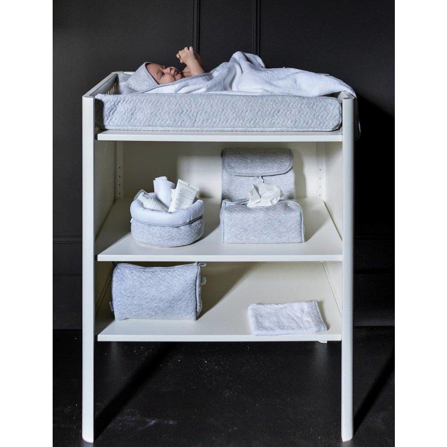 Tissue box hoes licht grijs (Chevron Light Grey) - Poetree Kids