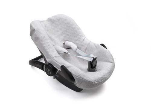 Maxi-Cosi hoes licht grijs (Chevron Light Grey) - Poetree Kids