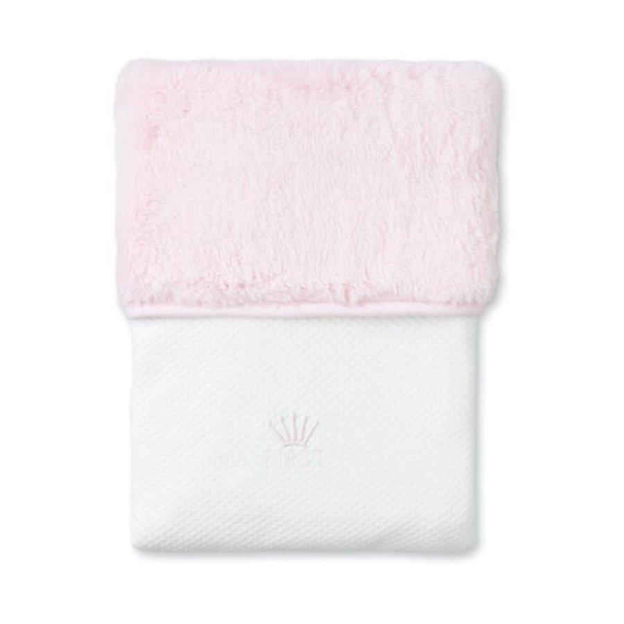 Deken met teddy voering (roze) - First (My First Collection)