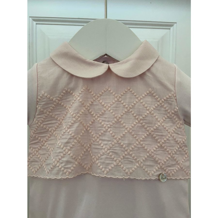 Roze boxpakje met ruit patroon - Pureté