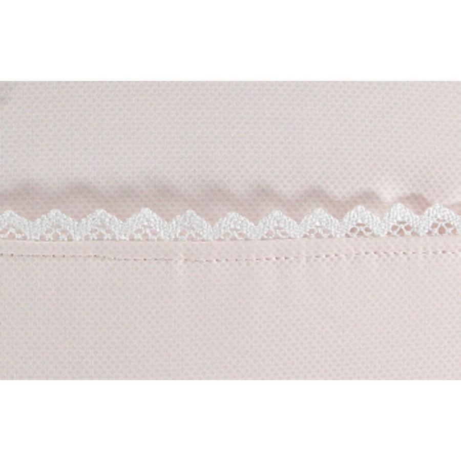 Roze verschoningsmatje met kant - GBB