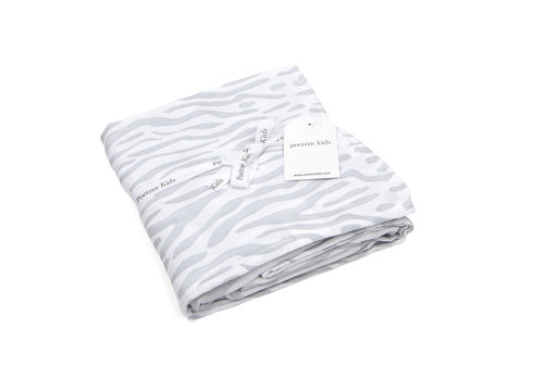 Swaddle doek zebra (Grey) - Poetree Kids