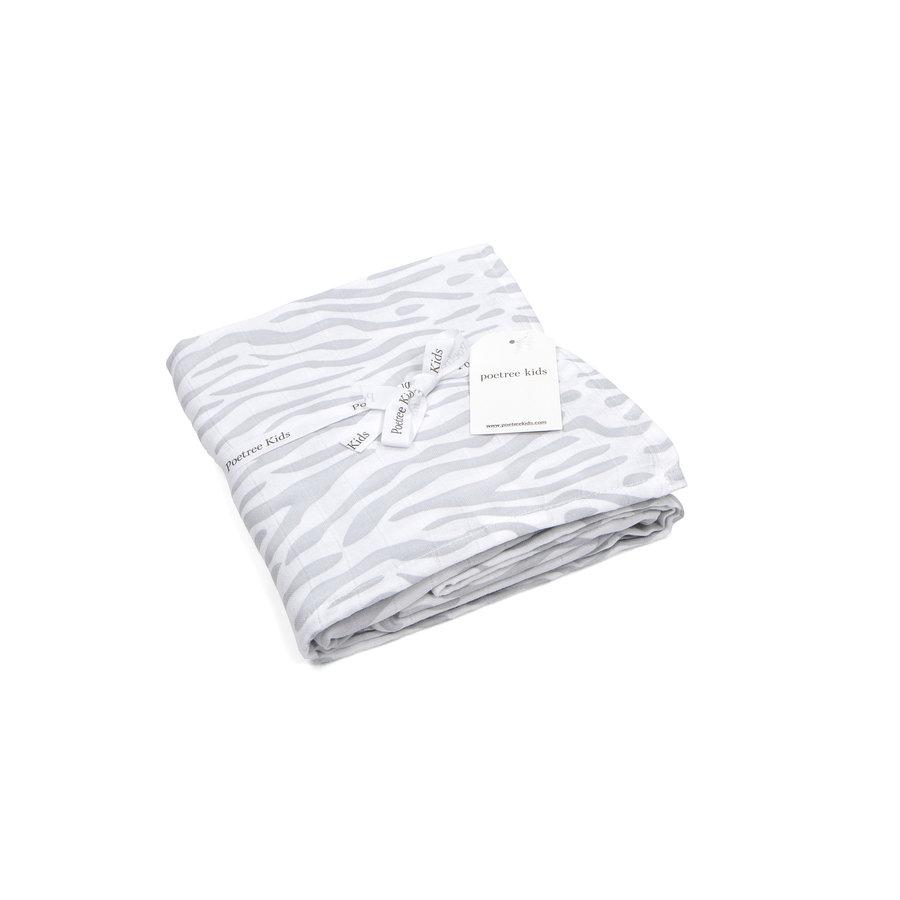 Swaddle doek zebra (Grey) - Poetree Kids