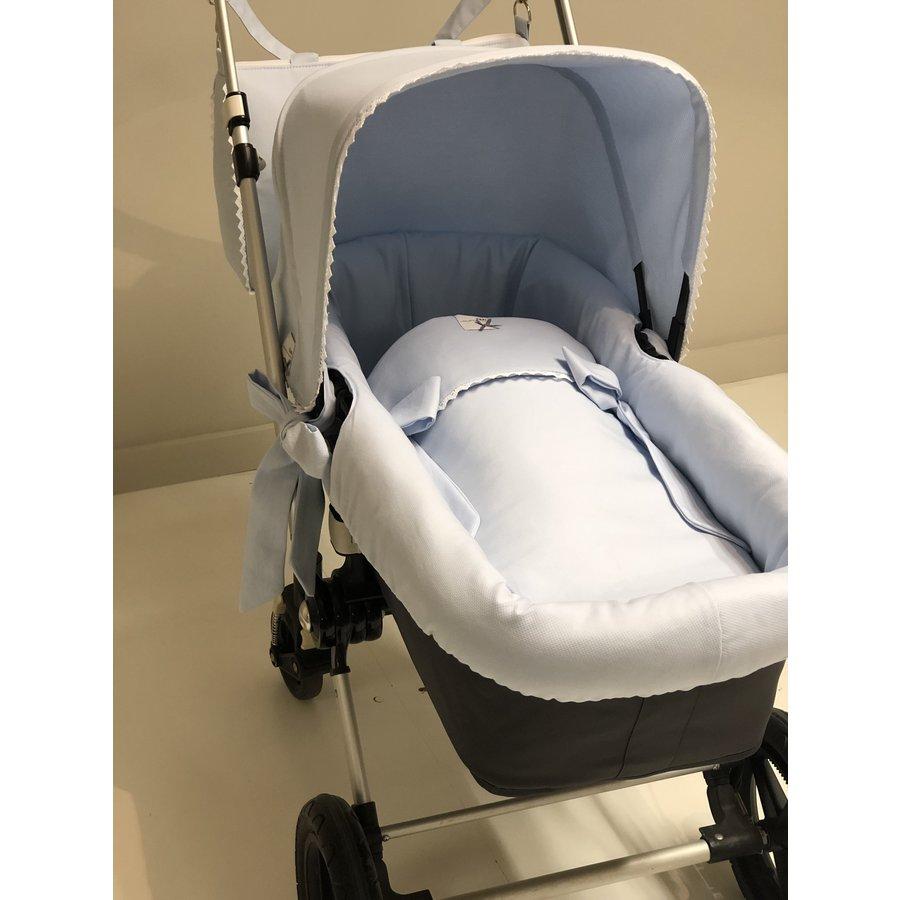 Blauwe slaapzak kinderwagen/wieg - GBB