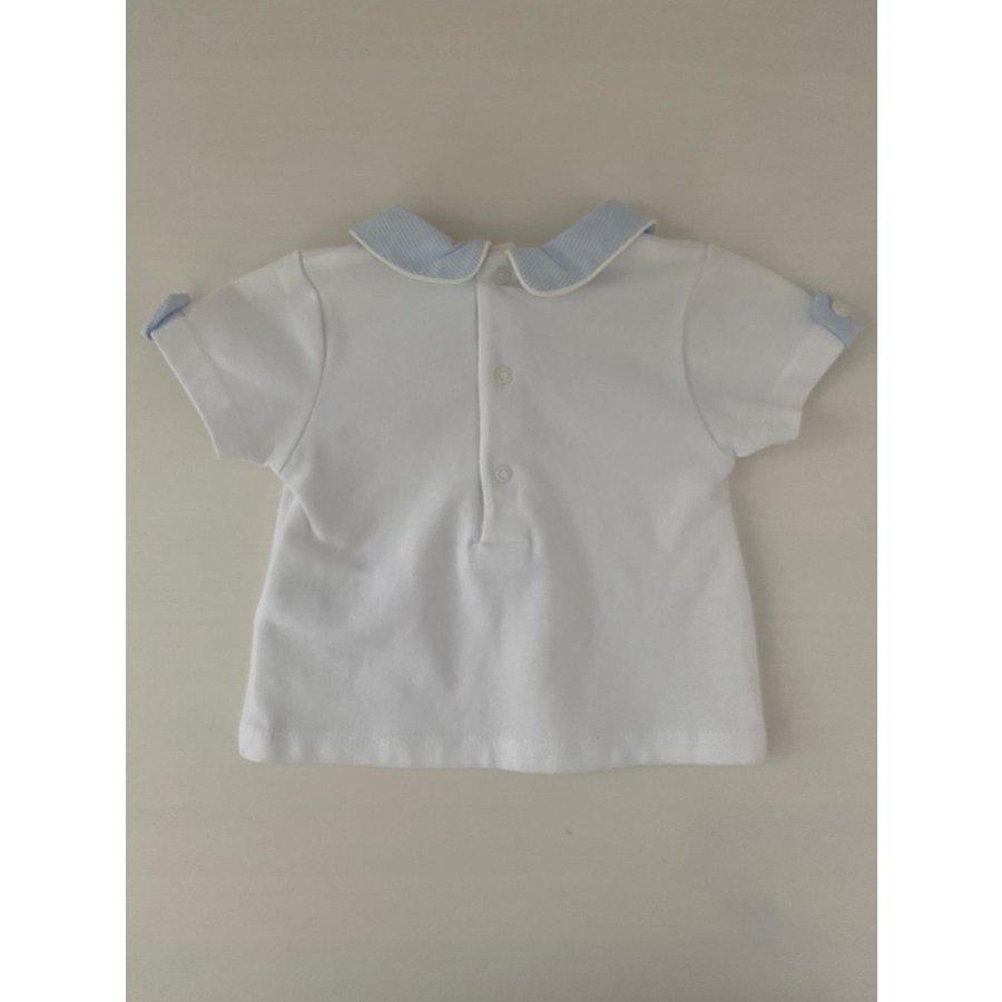 Wit shirt met gestreepte kraag - Patachou