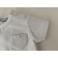 Wit shirt met gestreepte borstzak - Patachou