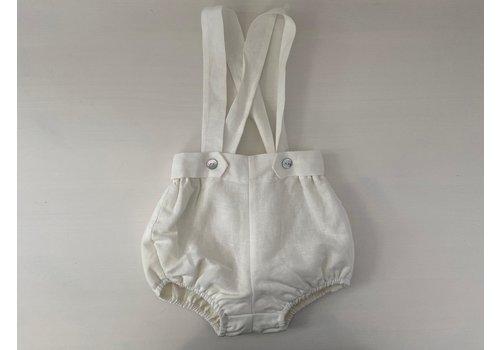 Wit broekje met bretels