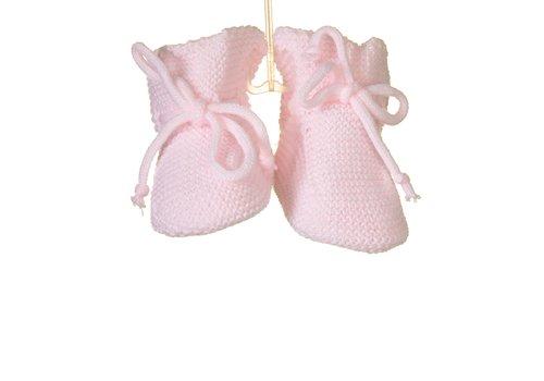 Roze slofjes (gebreid) - Bluesbaby