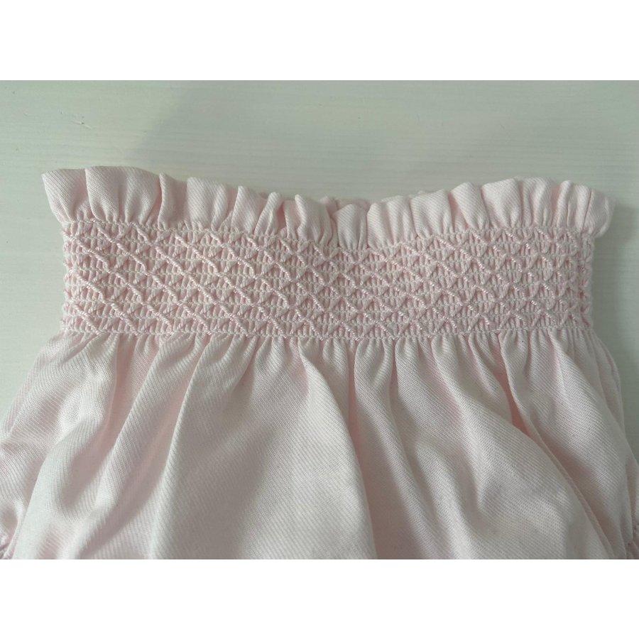 Roze broek met borduursel