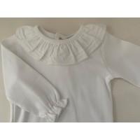 Wit shirt met witte sierkraag