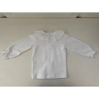 Wit shirt met sierkraag