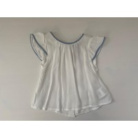 Witte blouse met blauwe randen - Patachou