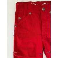 Rode broek met witte details