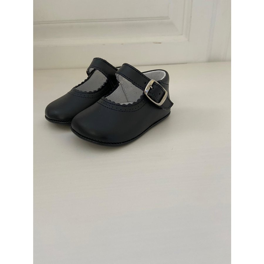 Donker blauw leren schoentje