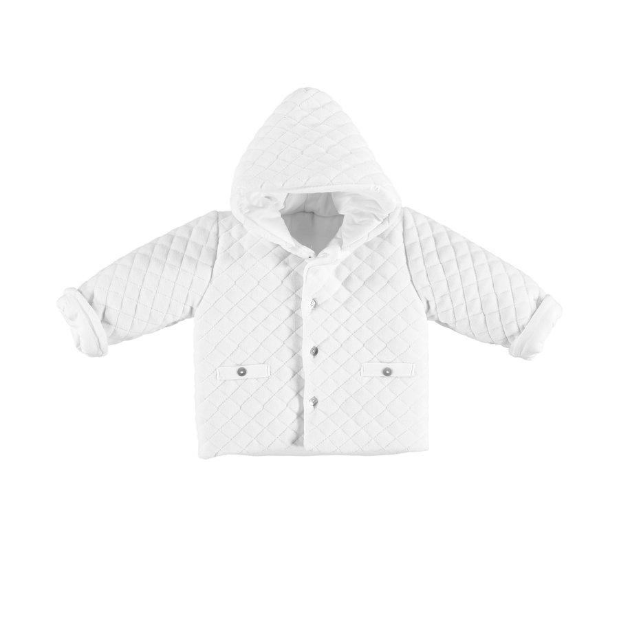 Gewatteerde jas (wit) - Babidu
