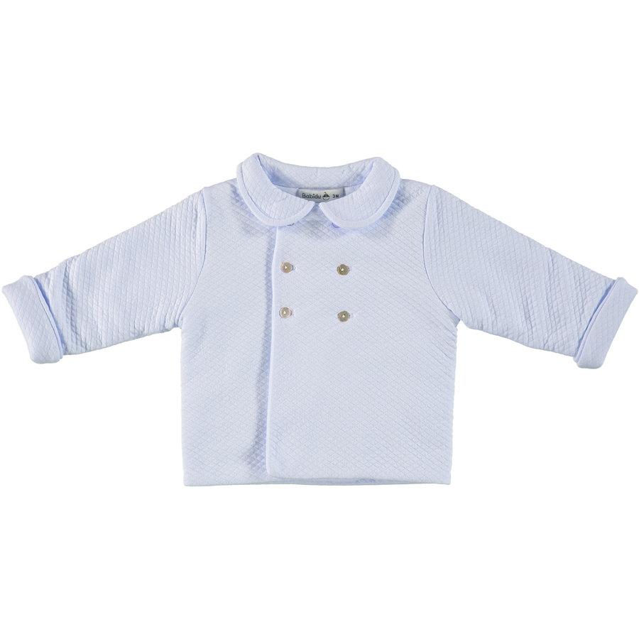 Gewatteerde jas met kraag (Blauw) - Babidu