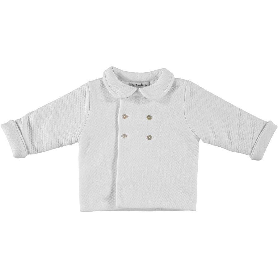 Gewatteerde jas met kraag (wit) - Babidu