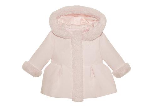 Jasje/mantel met imitatiebont (roze) - Patachou