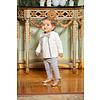 Patachou: Babykleding & Kinderkleding Set: shirt & broek (grijs) - Patachou