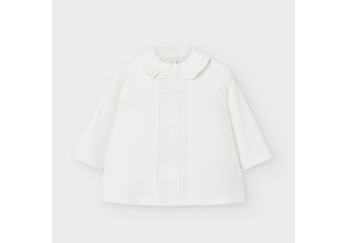 Blouse met hoge hals (off white) - Mayoral