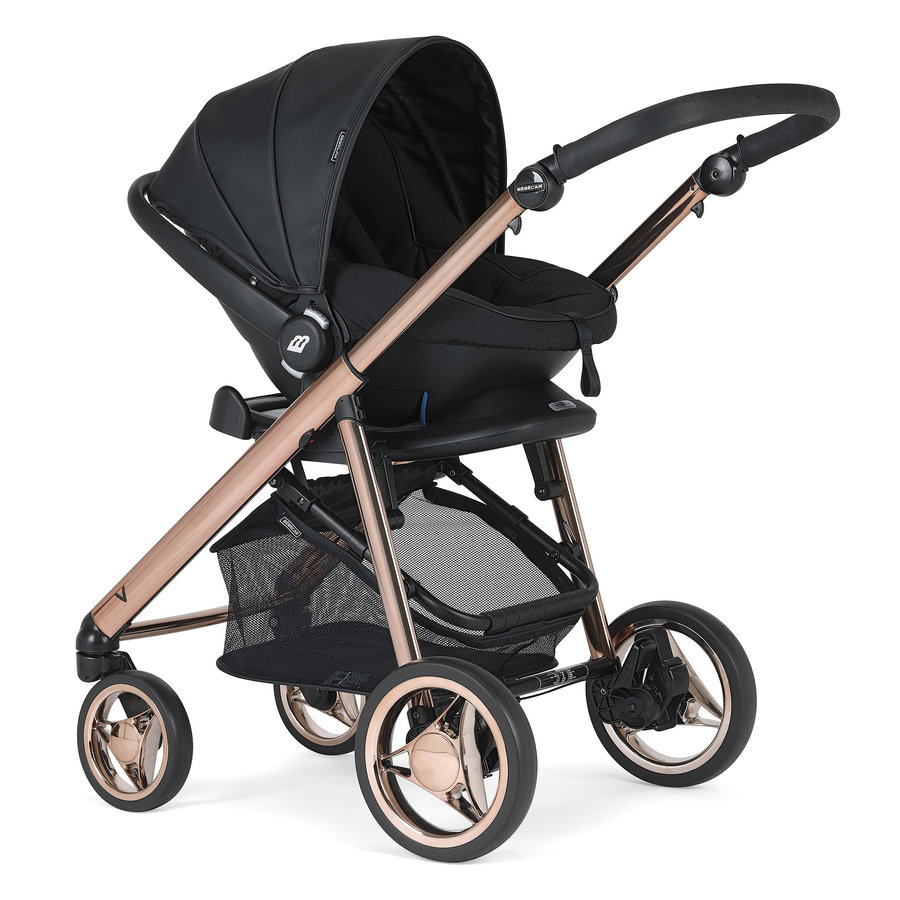 Kinderwagen V-Pack (zwart/rosé) - Bébécar